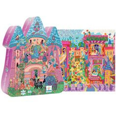 Djeco Silhouette Puzzle - Fairy Castle and over 7,500 other quality toys at Fat Brain Toys. Bright colors and intricate designs make up this fairytale wonderland that your child will enjoy putting together time and again.