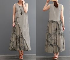 одноклассники – Linen Dresses For Women Linen Dresses, Cotton Dresses, Women's Dresses, Summer Dresses, Hijab Fashion, Boho Fashion, Fashion Dresses, Fashion Design, Stylish Dresses