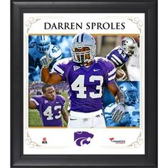 Darren Sproles Kansas State Wildcats Framed 15'' x 17'' Core Composite Photograph Kansas State University, Kansas State Wildcats, Denver Broncos, Photograph, Manhattan, Athlete, Core, Collage, A Team