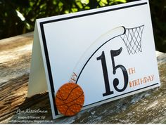 Recently I was asked to make a basketball themed 15th birthday card. As soon as I got the order I thought of Kelly's soccer card  and from t...