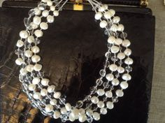 Baroque Pearls Rock Quartz and Clear Crystal by LadyGreyBeads