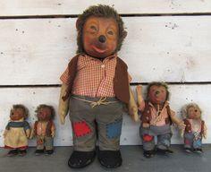 "Vintage Hedgehog Family - Assorted Lot Dolls Bears Steiff Mecki Mucki Macki 21"" | eBay"