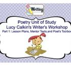 Ready to inspire your students? This is a four week study based on the Lucy Calkins Writer's Workshop model for the study of poetry. It would perf...