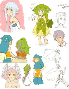 Wakfu scrawl and something exercise by a9971309 on DeviantArt