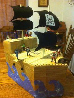Pirate Ship Valentine's Day Box