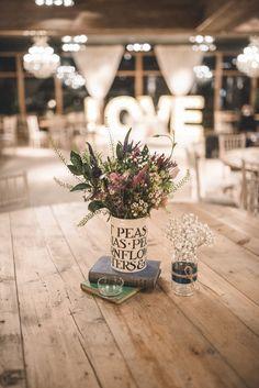 Toast & Marmalade Vase as a wedding centrepiece