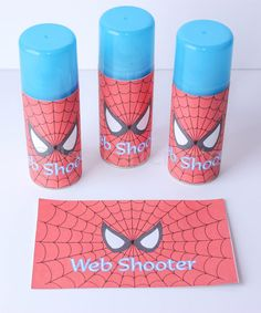 Spider-man Web Shooter Label Spiderman Label by JessicaJCreates