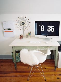 simple + cozy desk | photo by Clark Brewer