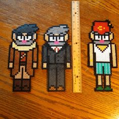 Stanley and Stanford Pines - Gravity Falls perler beads by fidgety_otter