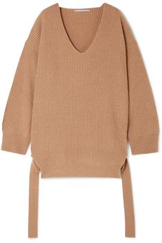 Stella McCartney | Oversized ribbed cashmere and wool-blend sweater | NET-A-PORTER.COM