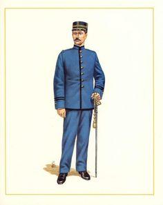 MINIATURAS MILITARES POR ALFONS CÀNOVAS: CHILE OFICIAL DE INFANTERIA DE DIARIO, 1892