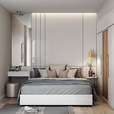 Modern bedroom design should be planned well. Here are some best design ideas for your modern style bedroom. Modern Bedroom Design, Contemporary Bedroom, Modern Interior Design, Bedroom Designs, Modern Elegant Bedroom, Small Modern Bedroom, Modern Room, Small Rooms, Modern Contemporary