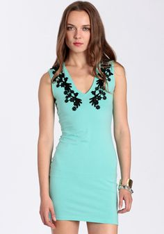 TIFFANY BLUE   @Julia Adrianna  Julie Sleeveless Bodycon Dress By Motel 62.00