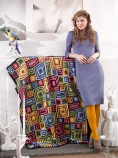 Granny Variation Afghan - intermediate (stash buster - free instructions)