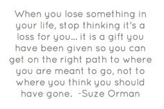 When you lose something...