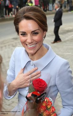 The Duchess of Cambridge marked a royal milestone today as she travelled to the Netherlands for her first solo overseas tour - undertaking s...