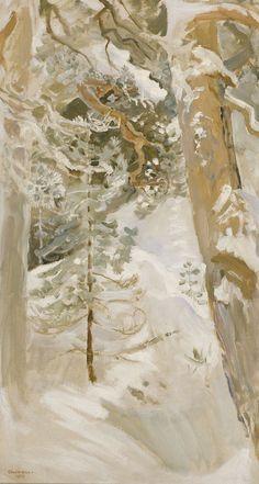 lovely, serene yet full of mystery Gallen-Kallela, Akseli Snowscape, 1900 Landscape Art, Landscape Paintings, Nordic Art, Scandinavian Art, Winter Painting, Winter Art, National Gallery, Canadian Art, Snow