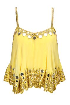 Yellow embroidered cami top available only at Pernia's Pop-Up Shop.