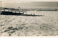 Whitstable sea frozen