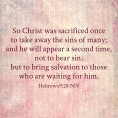 Hebrews 9:28 NIV