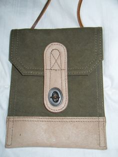 Vintage Banana Republic Cotton Canvas and Leather by RemixStore, $49.95
