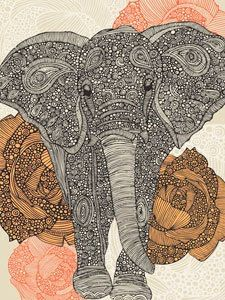 new oopsy daisy stetched art canvas' Elephant Wall Art, Elephant Canvas, Elephant Love, Elephant Poster, Art Wall Kids, Canvas Wall Art, Zentangle Elephant, Hippie Art, Doodle Art