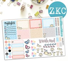 Cute Giraffe Planner Stickers  Sized for A6 Traveler's
