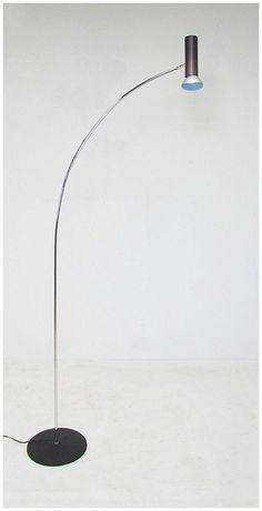 Robert Sonneman; Chromed, Enameled and Anodized Metal Floor Lamp, 1970s.