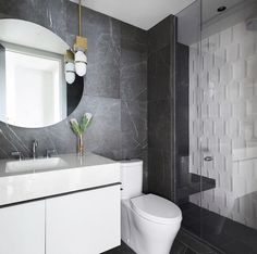 Statement walls goals 🙌 Product — Stones & More in Amani Bronze (Wall) Design — @stephaniebrowninc Photo — @philcrozier Statement Wall, Porcelain Tiles, Calacatta, Stone Tiles, Source Of Inspiration, Wall Design, Hardwood, Stones, Walls