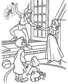 Peter Pan coloring pages on Coloring-Book.info   For the girls ...