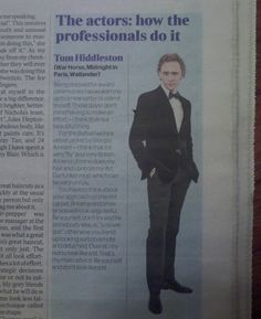Don't look like a tit-by Tom Hiddleston - I can totally understand his need for hair help. curls can be SUCH a pain
