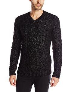 Calvin Klein Men's Premium Chunky Cable V Neck Sweater, Dusty Black, Medium Calvin Klein http://www.amazon.com/dp/B014EEB77M/ref=cm_sw_r_pi_dp_Z9Cxwb07QTN48