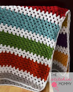 Stashbuster Granny Stripe Afghan By Amy Ramnarine - Free Crochet Pattern - (ravelry)