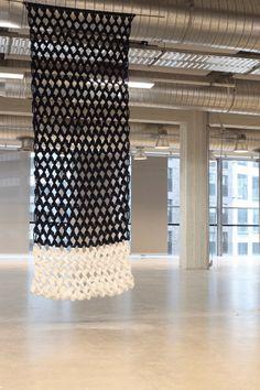 Anouk Haegen's modern macrame seen at Design Academy Eindhoven