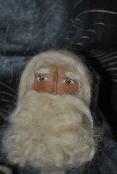 Olde Man Winter...Primitive Folk Art Santa Doll by AWINGANDAPRAYER