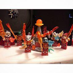 Custom Legend of Chima Fire minifigures Set of 7 Lego Size Laval, Cragger, Gorzam, Eris