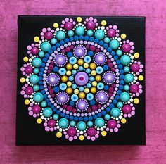 Hot Pink Mandala Painting...