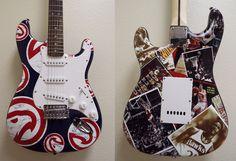 Custom wrapped promotional guitars by Brand O' Guitar Company.
