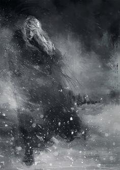 Finrod crossing the Helcaraxe by WisesnailArt on DeviantArt
