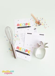 Download these free printable recipe cards