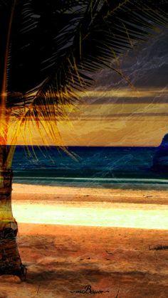 Beach Front Runoff   40 x 20 Canvas Print