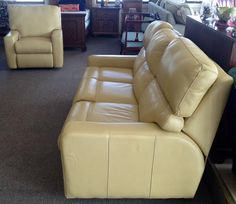 Omnia Navajo aniline plus leather all-the-way around double-recliner $1299 and & Rehome Consignment (rehomeshowroom) on Pinterest islam-shia.org