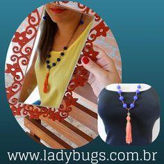 🌞O verão pede por cor!! 🌞 Colar Longo Tassel – Azul e Laranja por R$ 38,50 😍 Vem ver 💕 👉www.ladybugs.com.br🐞  #acessóriosfemininos #acessóriosmasculinos #acessorios #bijuteria #bijuterias #bijoux #visitenossaloja #bijuteriaonline #novidades #trendalert #moda #tendencia #lojavirtual #lojaonline #look #instamoda #caraguatatuba #jundiai #saopaulo #brasil #colar #colarlongo #longo #laranja #tassel #franja #anonovo #verão #estilo