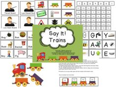 Speechy Musings: Say It! Trains Resource for Apraxia