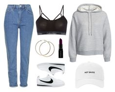 """""""Nike"""" by baludna ❤ liked on Polyvore featuring Topshop, T By Alexander Wang, NIKE, Calvin Klein and Smashbox"""