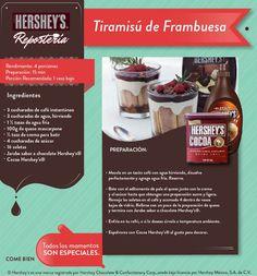 ¿Qué te parece un delicioso Tiramisú de frambuesa para este fin de semana? #Hersheys #Receta #Postres #Repostería #Chocolate #Tip