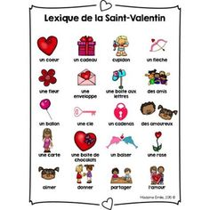 Balle Anti Stress, Valentines Illustration, French Classroom, French Resources, French Language Learning, Saint Valentine, Teaching French, Valentine Crafts, Saints