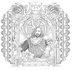 Sandor Clegane The Hound Game Of Thrones Coloring Book 10