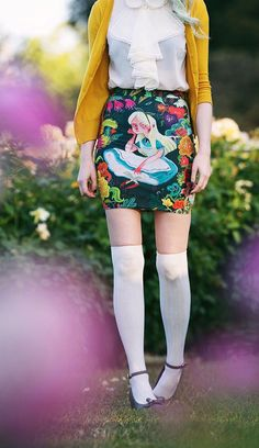Alice in Wonder Mini Skirts by Karl James Mountford on Redbubble {sponsored} Photo by Sara Harvey