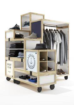 WINDOWS DISPLAY - Cyrillus mobilier modulable. adaption aux différentes configurations de magasins. modulable esthétiquement.facile à monter ( sans clous - ni vis ).personnalisable avec de la communication ( plv )